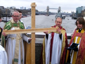Annual blessing of the Thames River in London UK