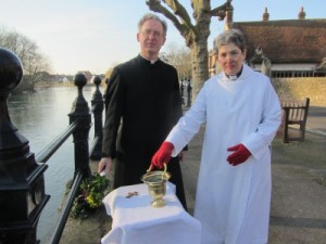 River blessing of the holy waters, England