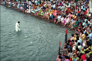 prayers for the river in Haridwar - India