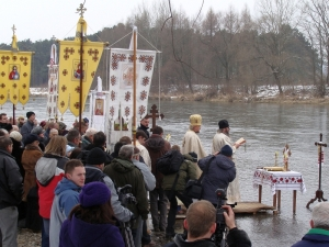 The 'Great Blessing of Waters' on the San River, during Epiphany